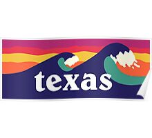 Texas surfing waves :) Poster