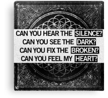 Can You Feel My Heart - BMTH Canvas Print