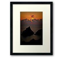 Kynance Sunset Framed Print