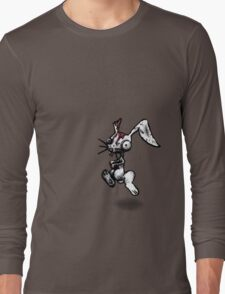 Zombie Bunny Downstage Right Long Sleeve T-Shirt