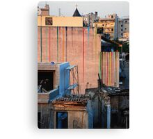 What colour shall I paint the wall... Canvas Print