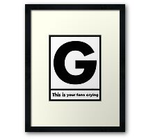 Gerard Way This Is Your Fans Crying Framed Print