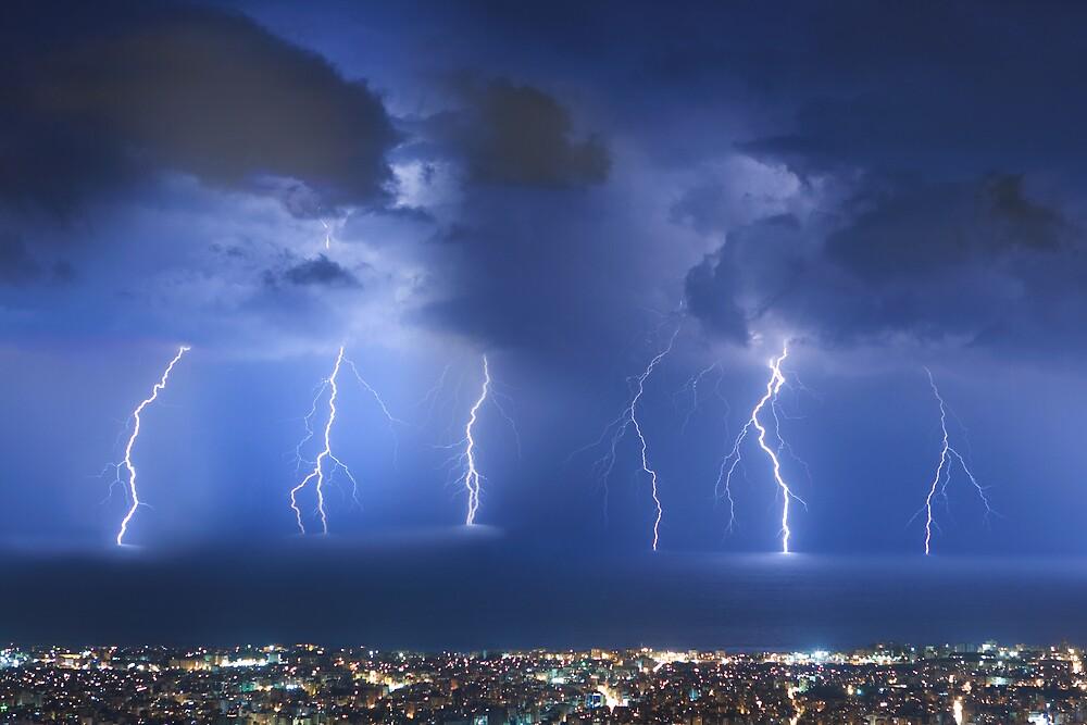 Thunderstorm over Beirut by Antoine Khater
