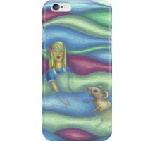 Illustration Alice in the pool of tears iPhone Case/Skin