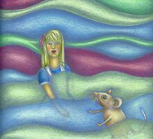 Illustration Alice in the pool of tears by mciglesias