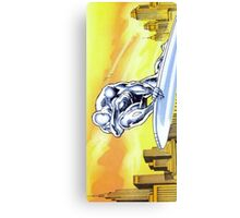 Sad Silver Surfer Canvas Print