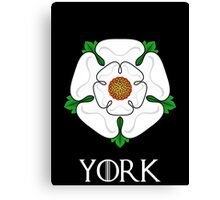 The House of York - with text Canvas Print