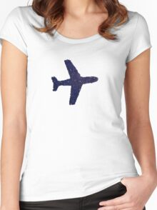 blue plane Women's Fitted Scoop T-Shirt