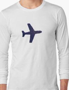 blue plane Long Sleeve T-Shirt