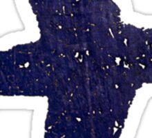 blue plane Sticker