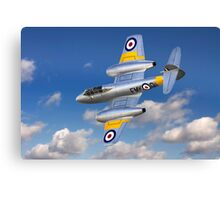 Gloster Meteor Jet Trainer Canvas Print