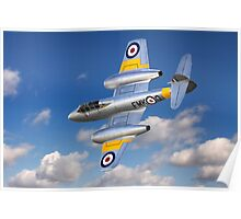 Gloster Meteor Jet Trainer Poster