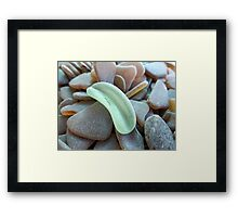 Light Olive Green Sea Glass Piece Framed Print