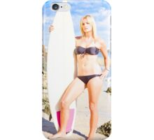 Beautiful Young Blond Surf Woman iPhone Case/Skin