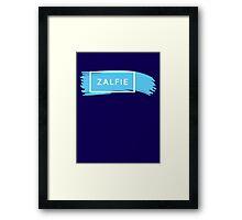 ZALFIE - white Framed Print