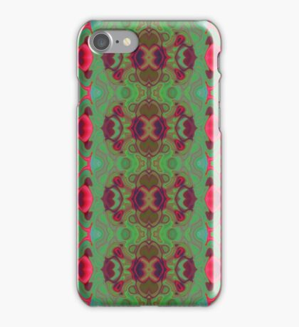 Pink and green marble iPhone Case/Skin
