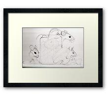 "Sketch ""the Pink sugar mice"" Framed Print"