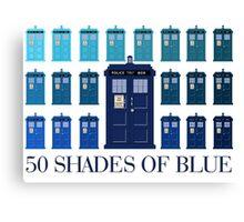 50 SHADES OF BLUE Canvas Print