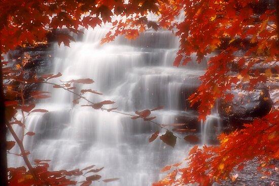 Autumn Waterfall I by Kenneth Krolikowski