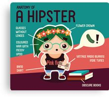 The Hipster Canvas Print