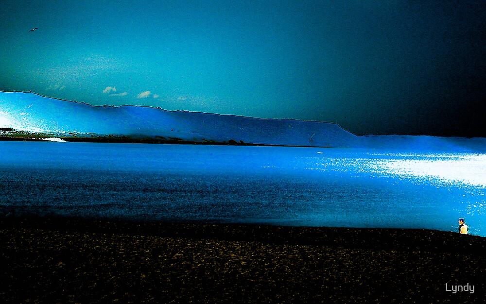 Alone on the beach ( Nazare... Portugal ) by Lyndy