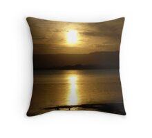 Cloudy Sunset over Water - Lake Illawarra (2) Throw Pillow