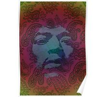 Psychedelic Hendrix Poster