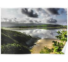 Portmeirion Beach, Wales Poster