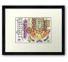 summer sketches Framed Print