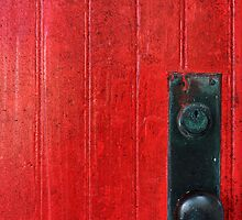 Red Door, Bubble Knob by Johanne Brunet