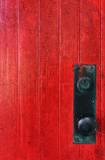 Red Door, Bubble Knob by Johanne Brunet