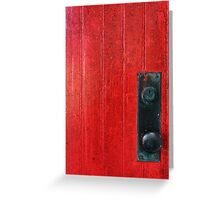 Red Door, Bubble Knob Greeting Card