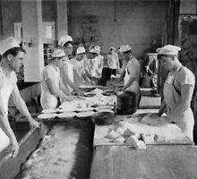 CLASS FOR BAKERS, COMMISSARY SCHOOL, NAVAL TRAINING STATION Newport, Rhode Island 1916 by Adam Asar