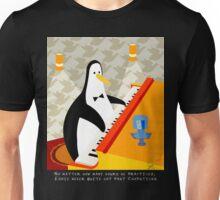 Eddie Penguin on black Unisex T-Shirt