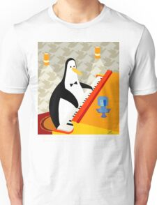 Eddie Penguin on black Unisex T-Shirt