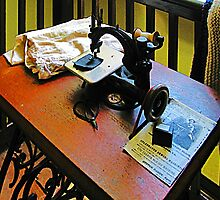 Sewing Machine with Cloth by Susan Savad