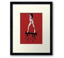 Ink girl Framed Print