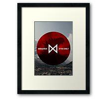 Monarch Eyes Only - Godzilla 2014 Framed Print