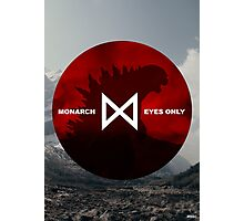 Monarch Eyes Only - Godzilla 2014 Photographic Print