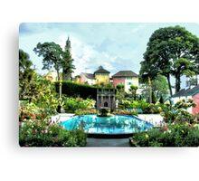 Italian Gardens - Portmeirion Village Canvas Print