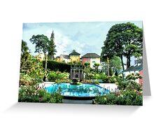 Italian Gardens - Portmeirion Village Greeting Card