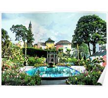 Italian Gardens - Portmeirion Village Poster