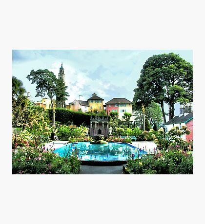 Italian Gardens - Portmeirion Village Photographic Print