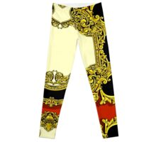 Vintage Gold Baroque Frame Leggings