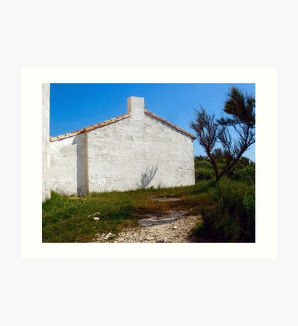 Lighthouse Keepers Cottage Art Print
