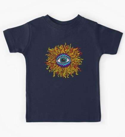 Psychedelic Sunflower - Just the flower Kids Tee