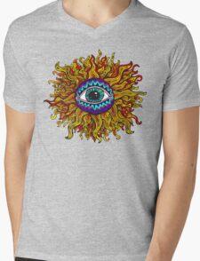 Psychedelic Sunflower - Just the flower Mens V-Neck T-Shirt