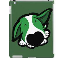 Big Nose Bull Terrier Puppy Green  iPad Case/Skin