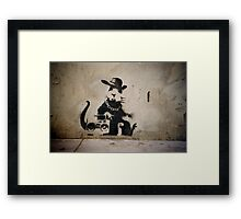 Gangsta Rat Framed Print