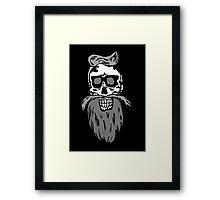 Hipster skull Framed Print